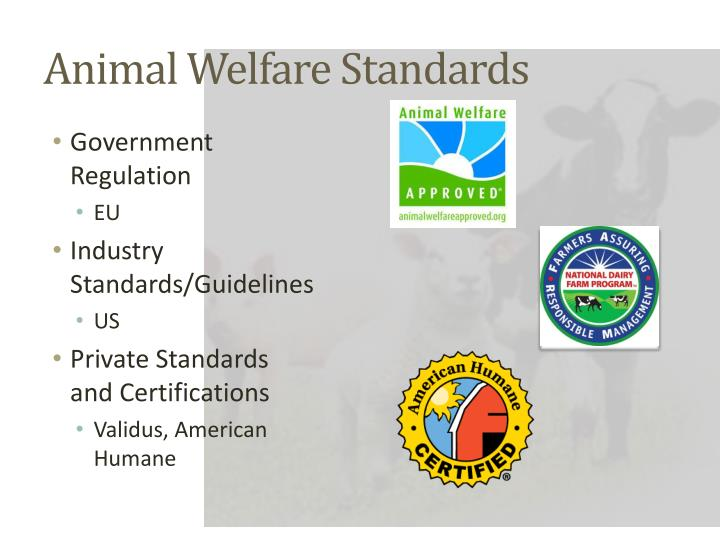 Animal welfare standards