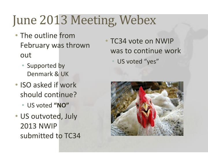 June 2013 Meeting, Webex