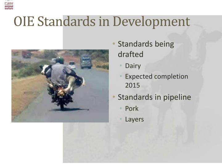 OIE Standards in Development