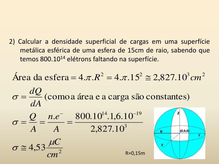2) Calcular a