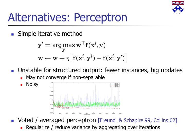 Alternatives: Perceptron