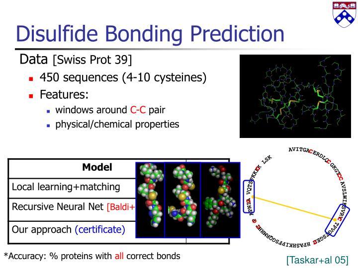 Disulfide Bonding Prediction