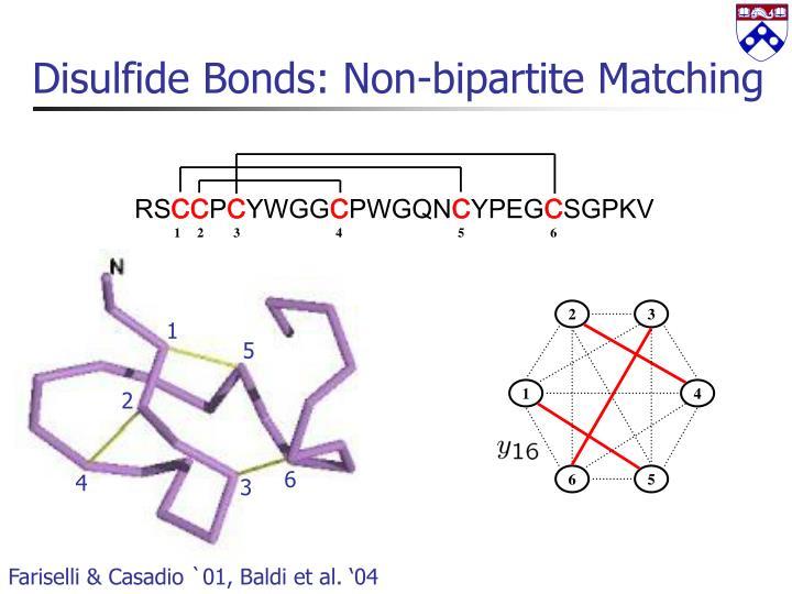 Disulfide Bonds: Non-bipartite Matching