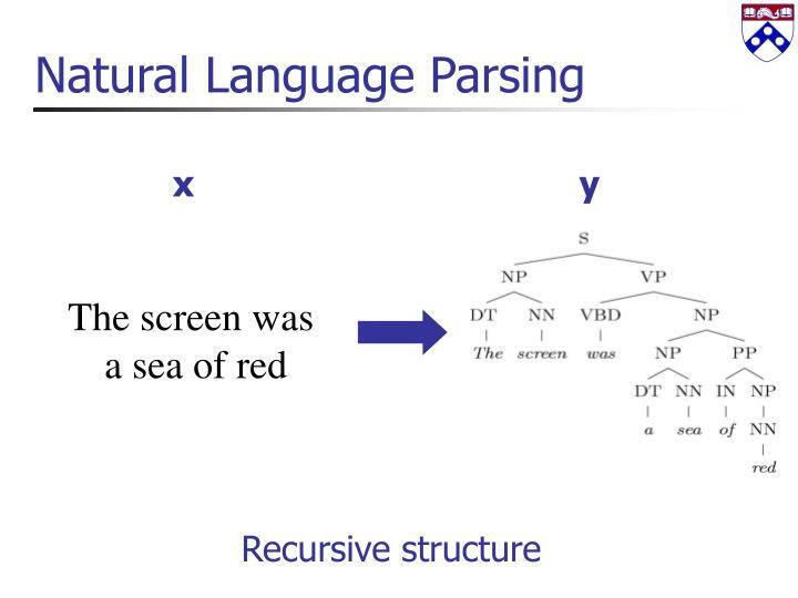 Natural Language Parsing