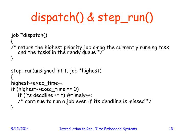 dispatch() & step_run()
