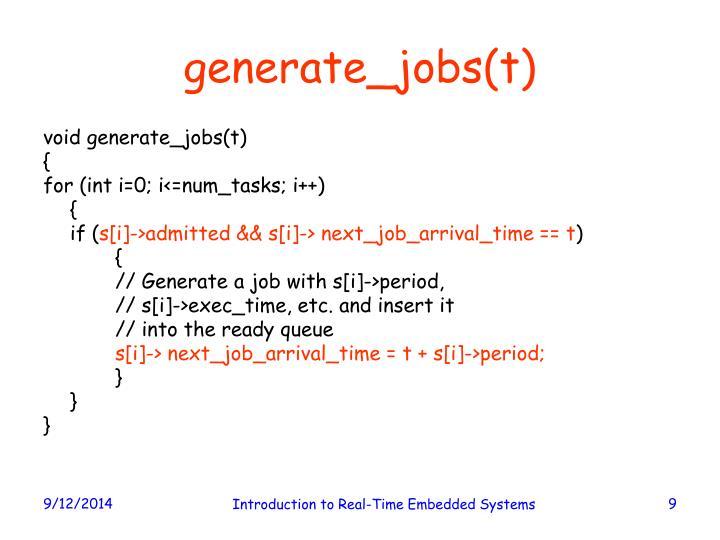 generate_jobs(t)