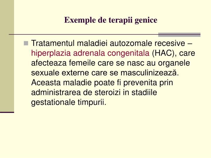 Exemple de terapii genice