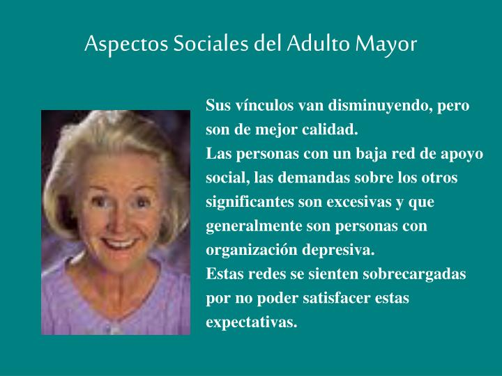 Aspectos Sociales del Adulto Mayor