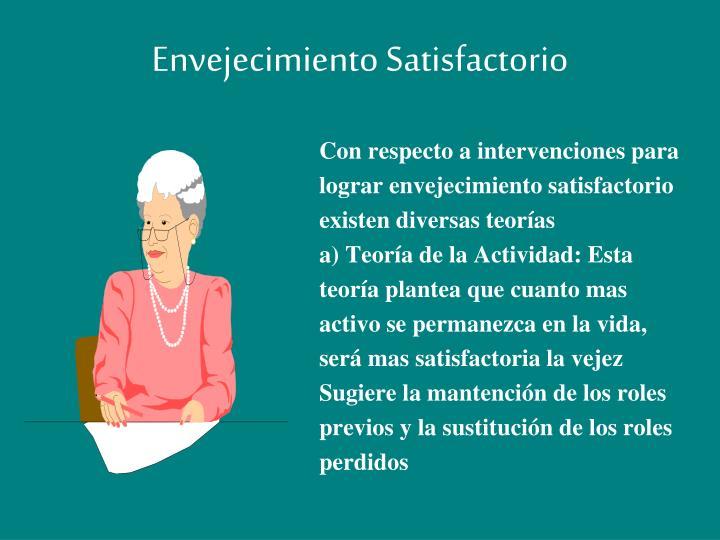 Envejecimiento Satisfactorio