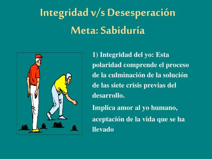 Integridad v/s Desesperación