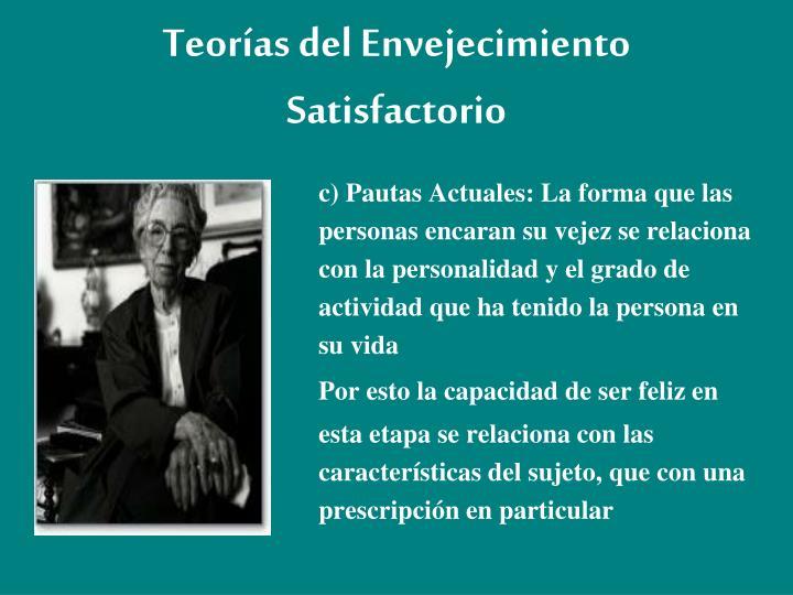 Teorías del Envejecimiento Satisfactorio