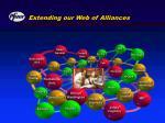 extending our web of alliances