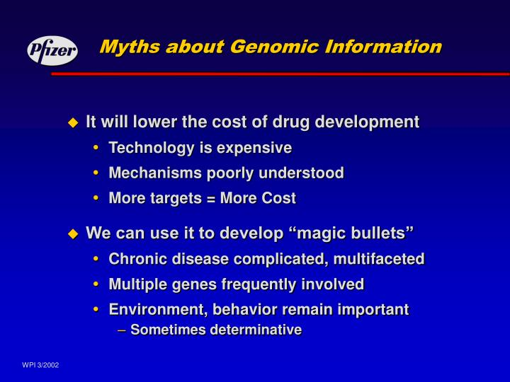 Myths about Genomic Information
