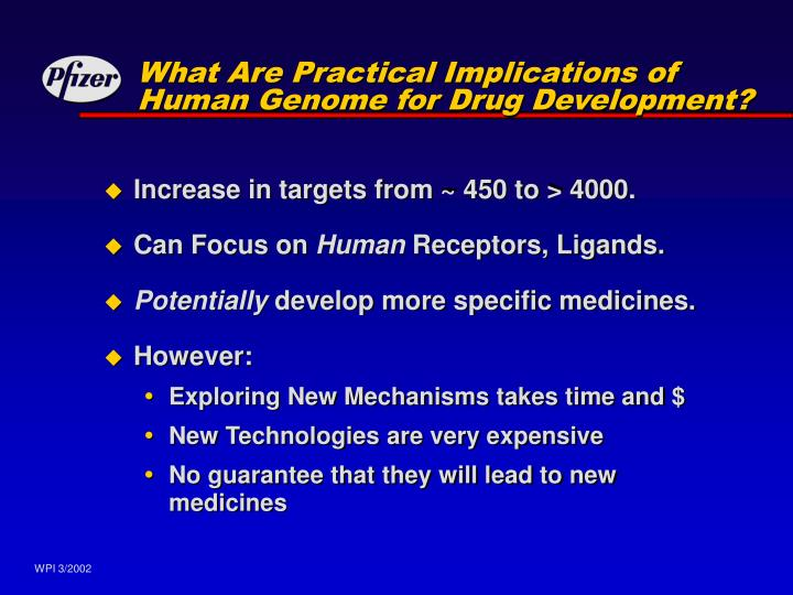 What Are Practical Implications of Human Genome for Drug Development?