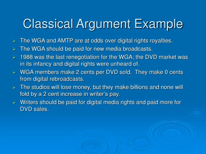 Classical Argument Example