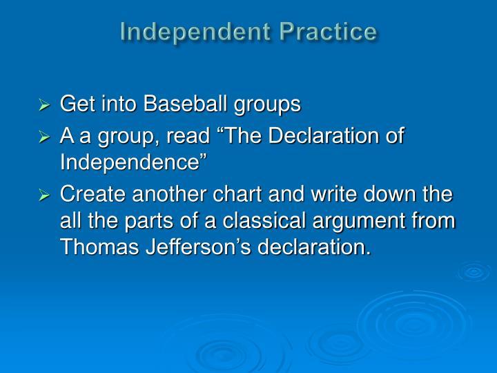 Independent Practice
