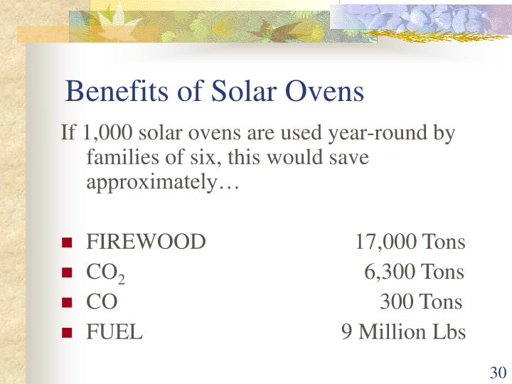 Benefits of Solar Ovens