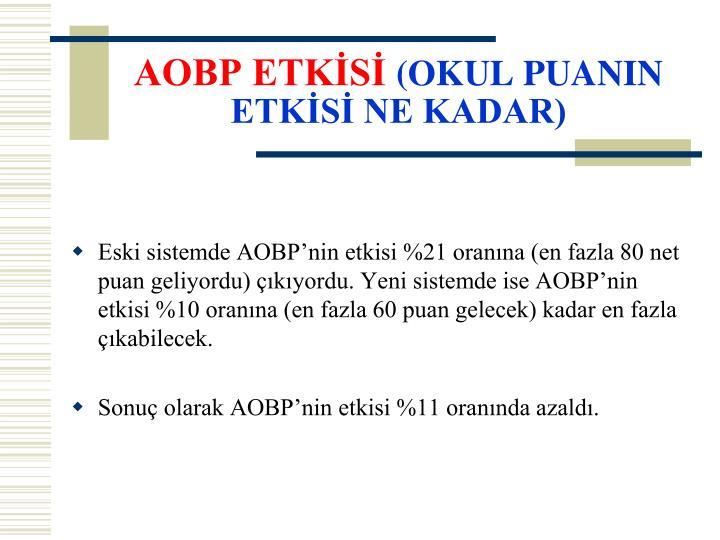 AOBP ETKİSİ