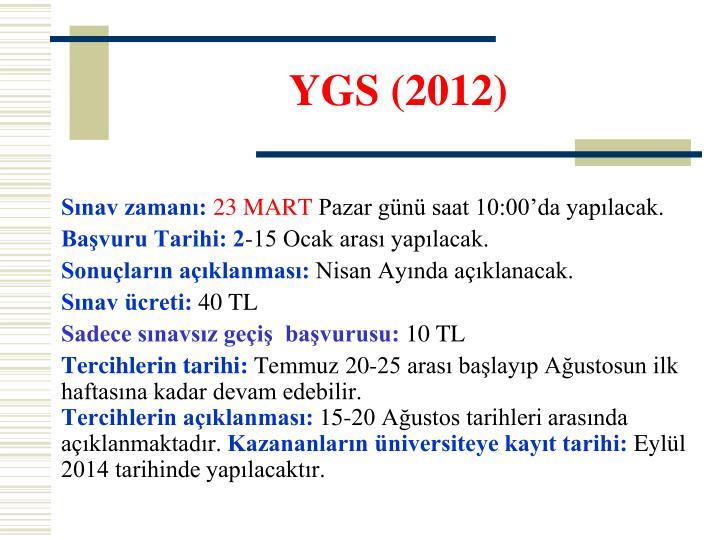 YGS (2012)