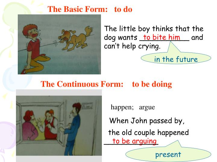 The Basic Form:   to do
