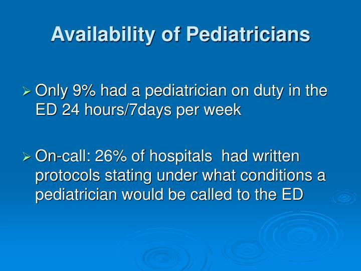 Availability of Pediatricians