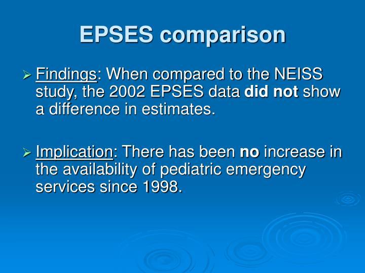 EPSES comparison