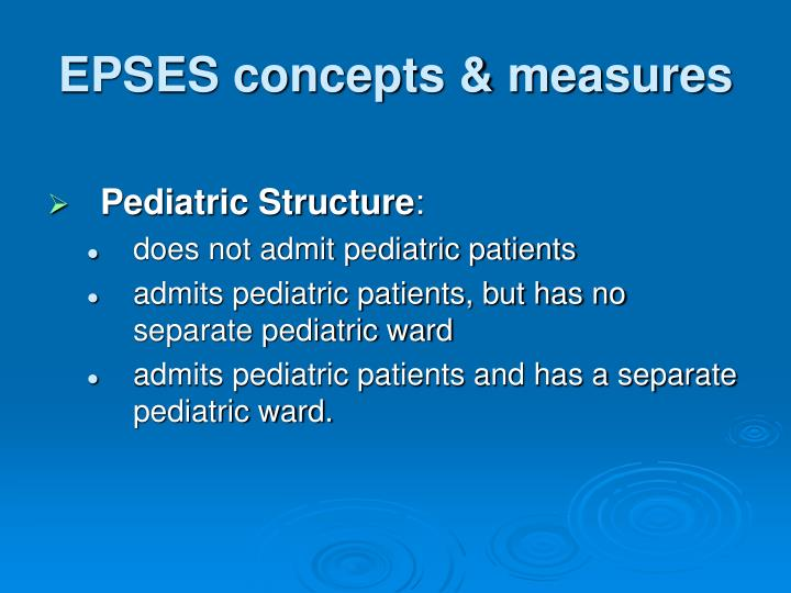 EPSES concepts & measures