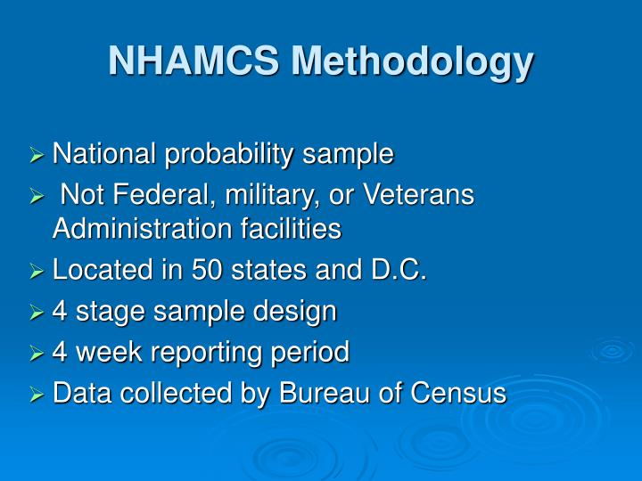 NHAMCS Methodology