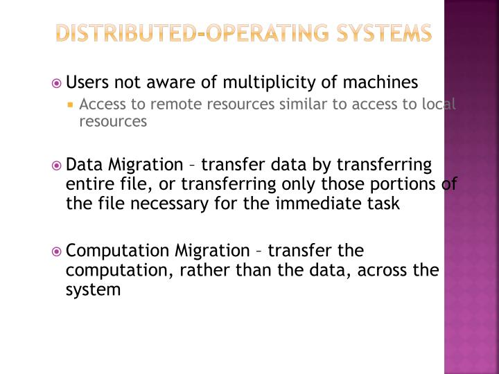 Distributed-Operating Systems
