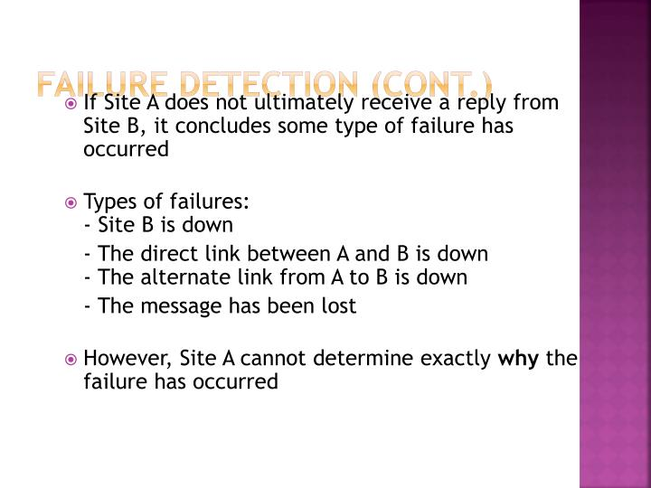 Failure Detection (Cont.)