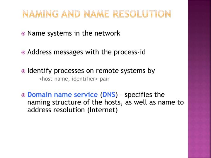 Naming and Name Resolution