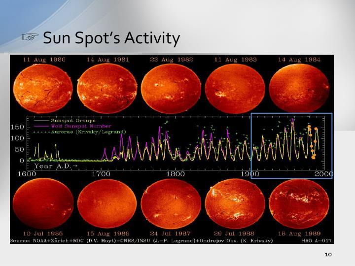 Sun Spot's Activity