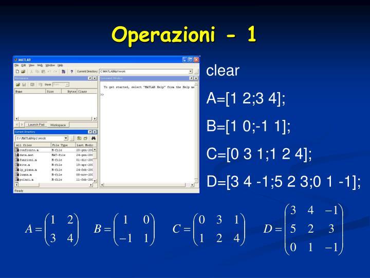 Operazioni - 1