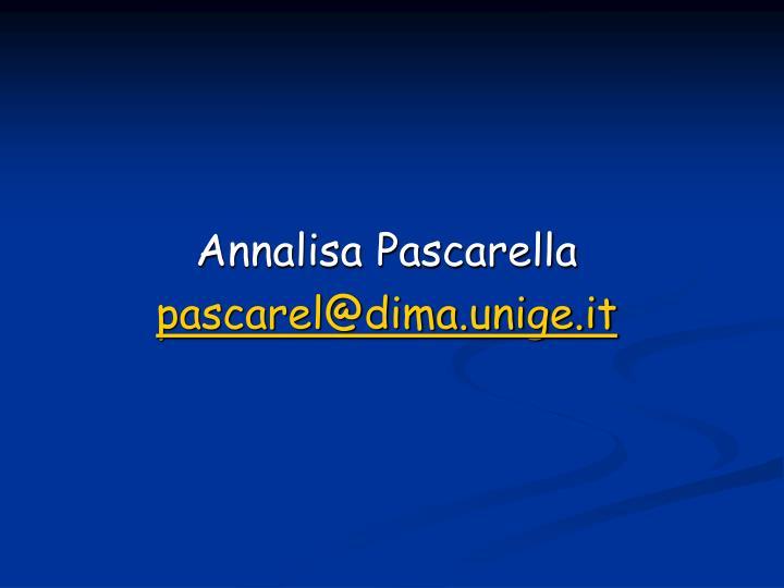 Annalisa Pascarella