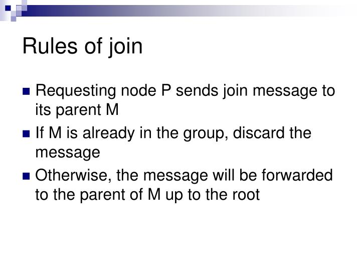 Rules of join