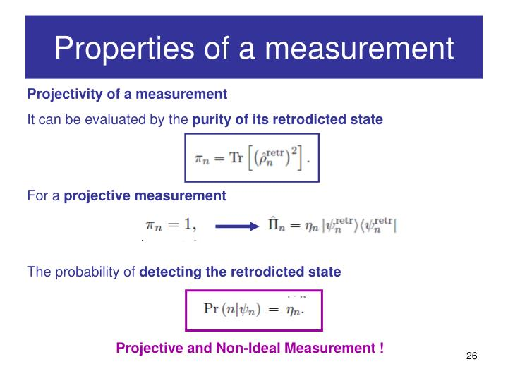 Properties of a measurement
