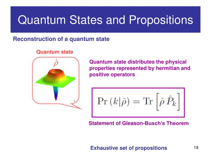 Quantum state distributes the physical properties represented by hermitian and positive operators