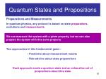quantum states and propositions5