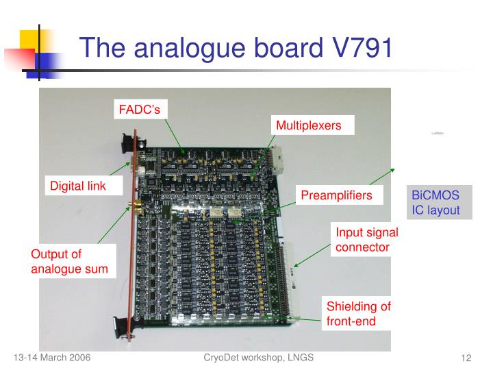 The analogue board V791