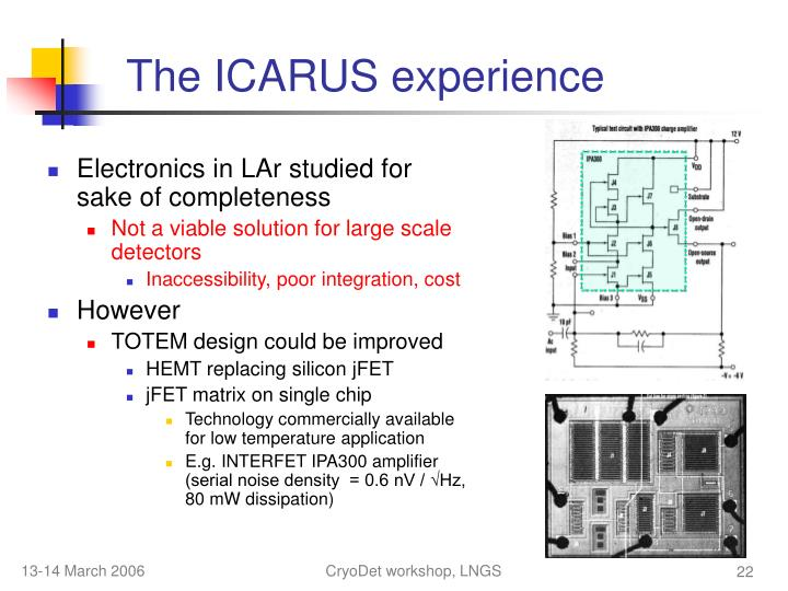 The ICARUS experience