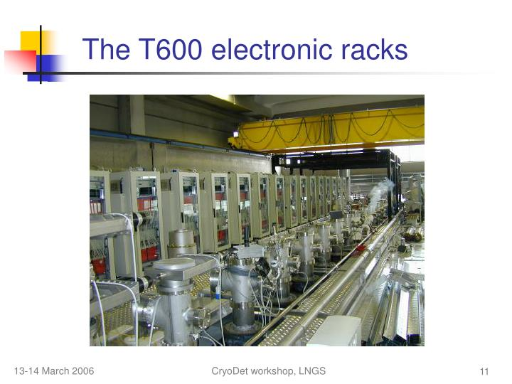 The T600 electronic racks