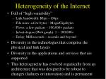 heterogeneity of the internet