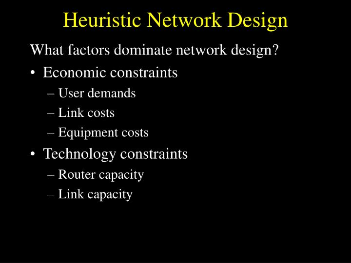 Heuristic Network Design
