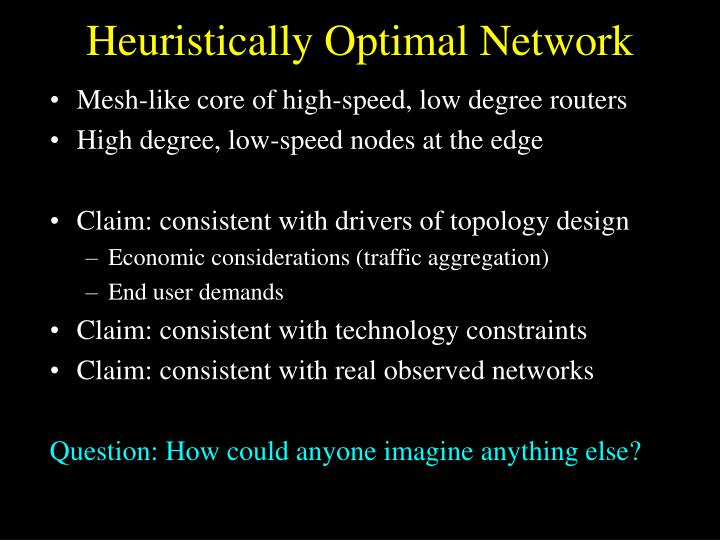 Heuristically Optimal Network