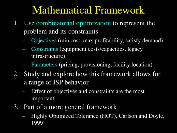 Mathematical Framework