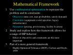 mathematical framework