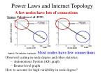 power laws and internet topology