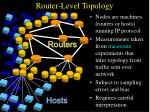 router level topology