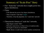 summary of scale free story