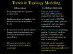 trends in topology modeling1